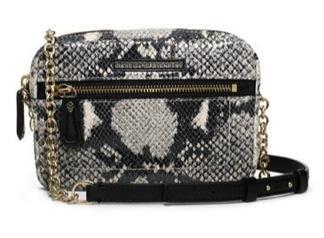 Diane von Furstenberg Diane von Furstenberg Milo Micro Embossed Snake Crossbody Bag
