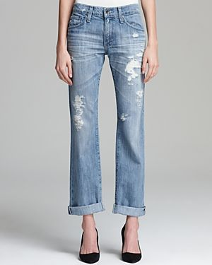 Big Star  Joey Distressed Rolled Slim Jeans