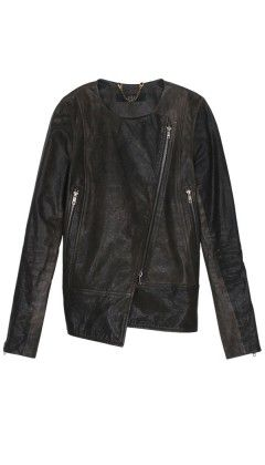 Tibi   Distressed Leather Jacket