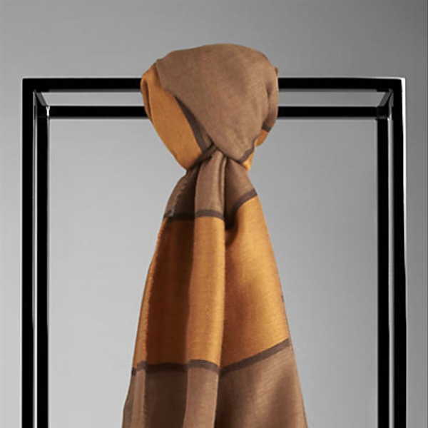 Burberry  Striped Silk Wool Blend Scarf