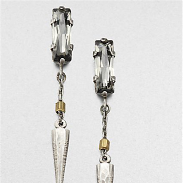 Bing Bang Baguette Crystal Spike Earrings