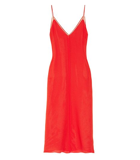 T By Alexander Wang Silk Crepe De Chine Slip Dress