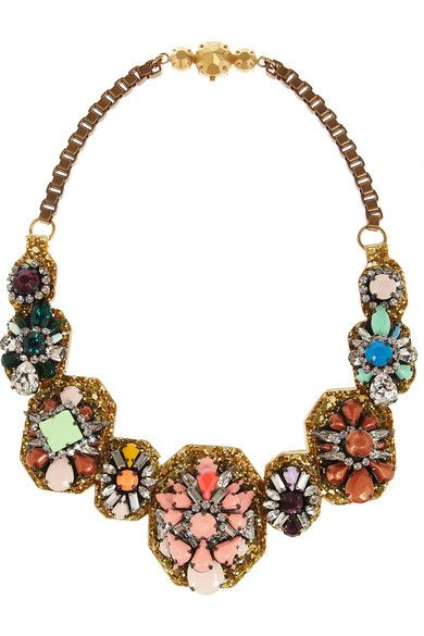 Shourouk  Santa Maria Bronze-Plated Swarovski Crystal Necklace