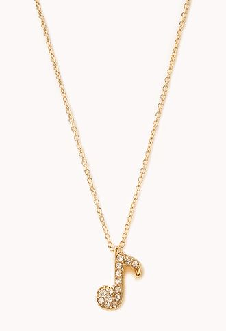 Forever 21  Sweet Musical Note Necklace