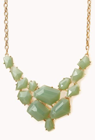 Forever 21  Eclectic Natural Stone Bib Necklace