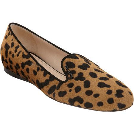 Prada Leopard Ponyhair Loafers