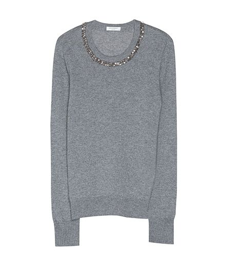 Equipment Shane Sweater with Embellished Neckline, $368