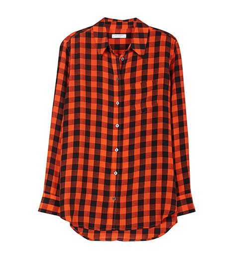 Equipment Reese Top in Check Print, $248