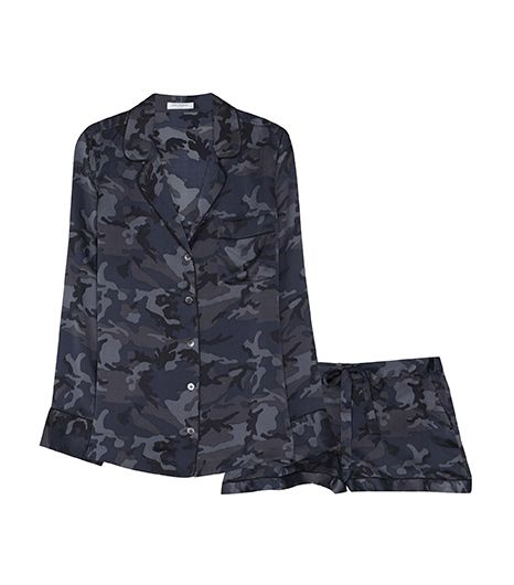 Equipment Lillian Pajama Set in Traditional Camo, $388