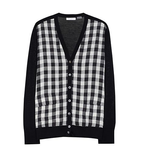 Equipment Taylor Cardigan with Contrast, $318