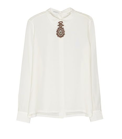 Equipment Grace Top with Embellishment, $288