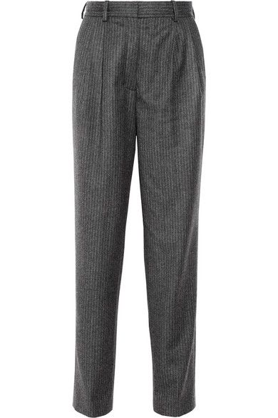 Vanessa Bruno  Pinstripe Wool Wide-Leg Pants