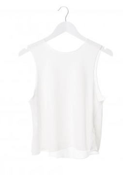 David Attewell  Womens White Raw Tank