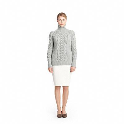 Coach Handknit Aran Polo Neck Sweater