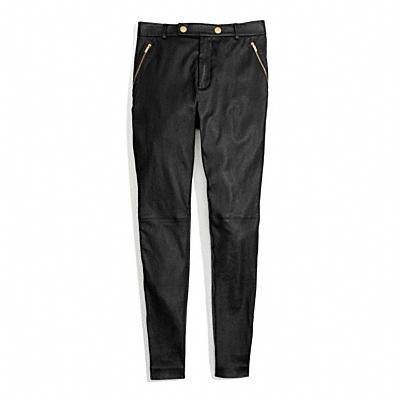 Coach Leather High Waisted Trouser