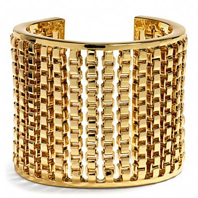 Coach Box Chain Cuff