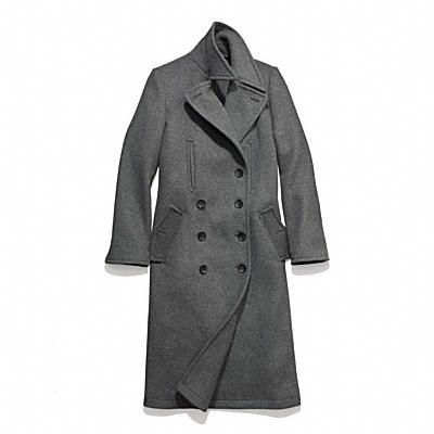 Coach Wool Fitted Basic Men's Coat