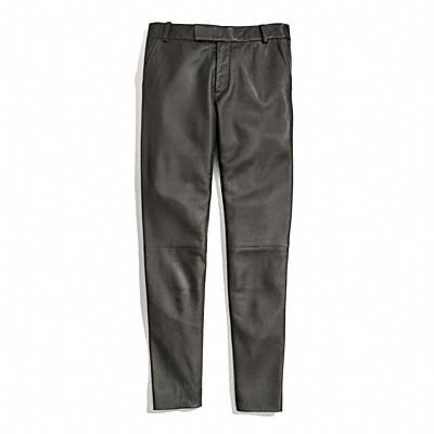 Coach Leather Cigarette Trouser