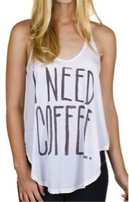 Junk Food Clothing Co. Junk Food Clothing Co. I Need Coffee Rebel Tank