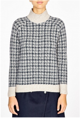Theory  Astral Loryelle Wool Yarn Rib Eye Jumper