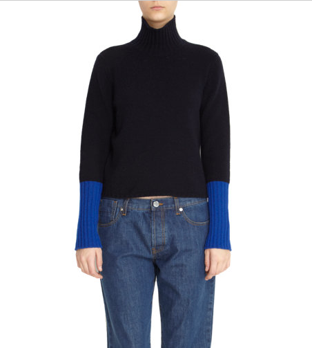 Marni  Contrast Cuff Turtleneck Sweater