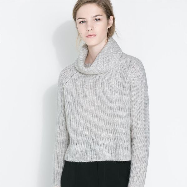 Zara  Wide Turtle Neck Jersey