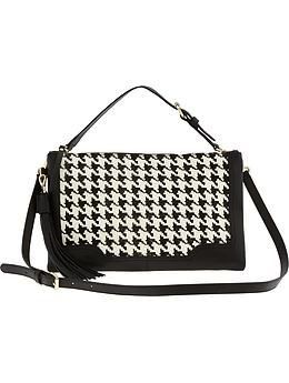 Banana Republic  Banana Republic Evan Convertible Houndstooth Crossbody Bag