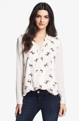Ella Moss  Jane Doe Deer & Polka Dot-Print Blouse