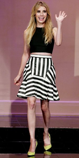 "Emma Roberts makes an appearance on ""The Tonight Show With Jay Leno."""