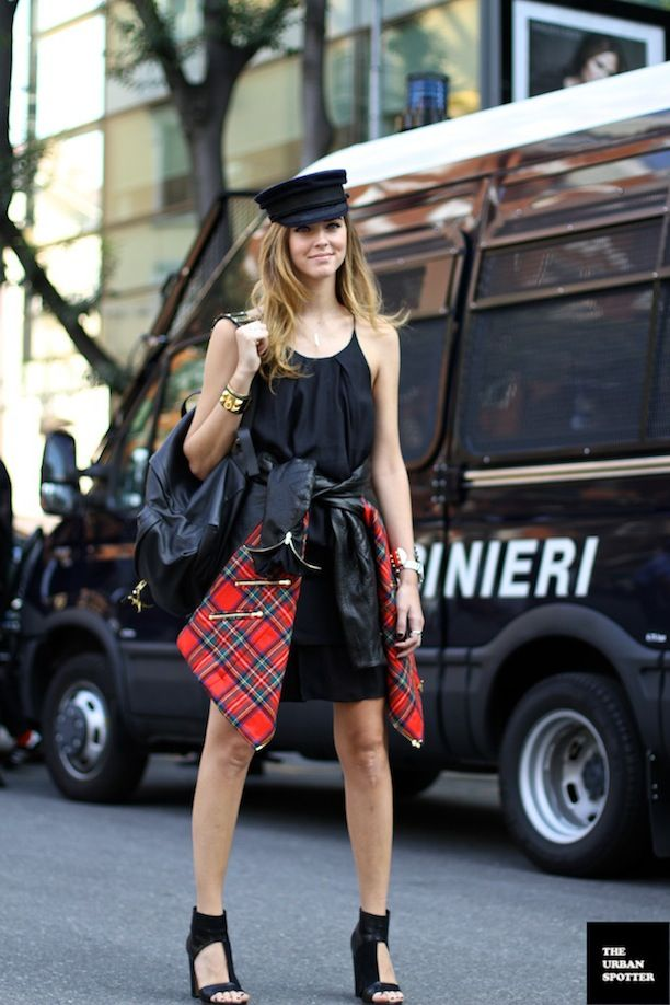 Two Ways To Rock Punk-Perfect Tartan: See The Street Style Shots