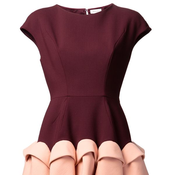 Delpozo  Ruffle Skirt Dress