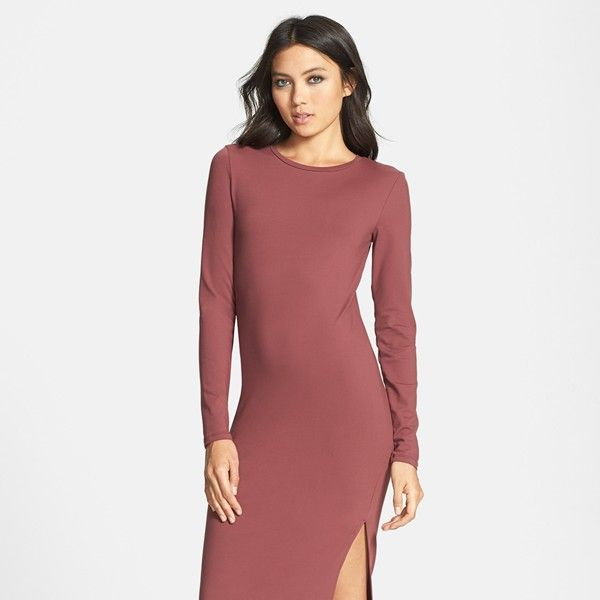 Leith Long Sleeve Knit Midi Dress