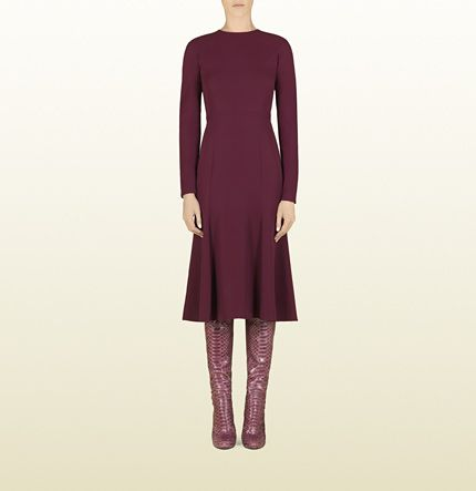 Gucci  Silk Cady Long Sleeve Dress