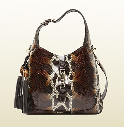 Gucci  Jackie Python Shoulder Bag