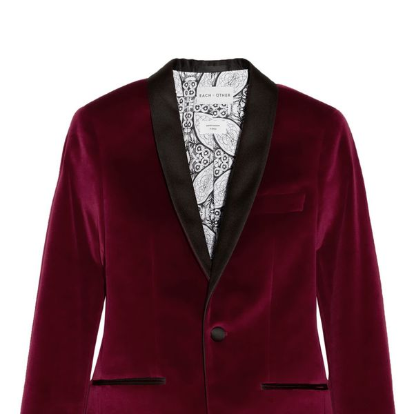 Each x Other  Satin-Trimmed Velvet Tuxedo Blazer