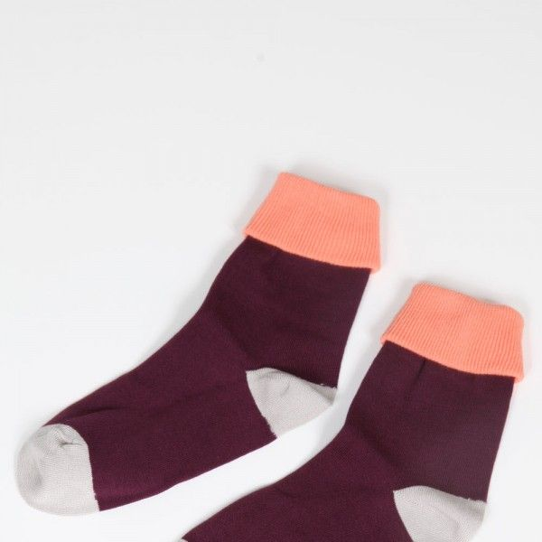 Mikkat Market  Color Block Fold Socks