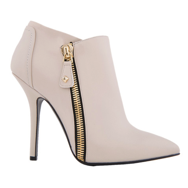 Greymer  Napa Calfskin Ankle Boots with Gold Zip