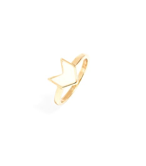 Atlantic-Pacific For BaubleBar Enamel Chev Ring