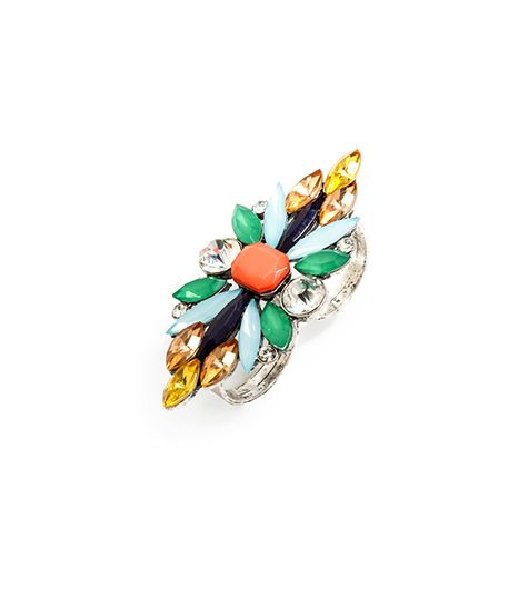BaubleBar Marquise Gem Two-Finger Ring