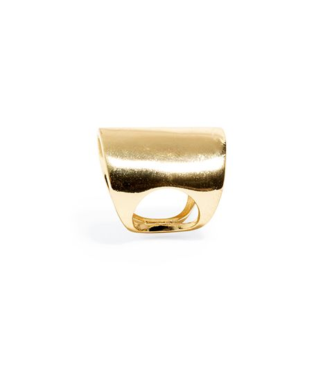 BaubleBar Bold Gold Shield Ring