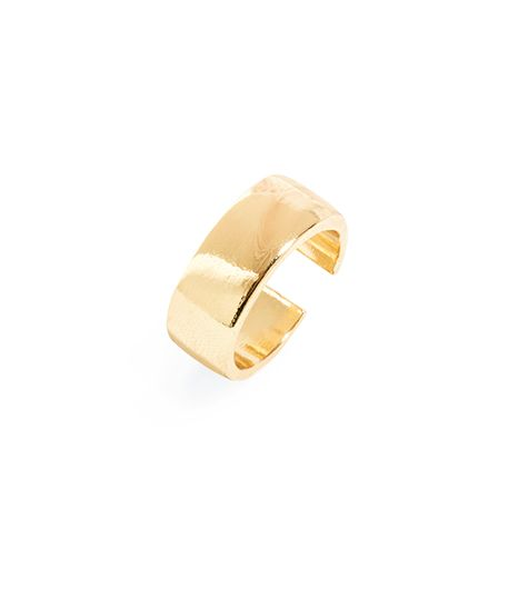 BaubleBar Gold Slim Cigar Ring