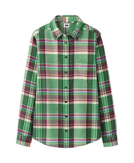 Uniqlo  Women's Flannel Check Long Sleeve Shirt