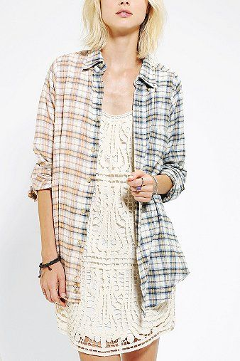 Urban Renewal  50/50 Boyfriend Flannel Shirt