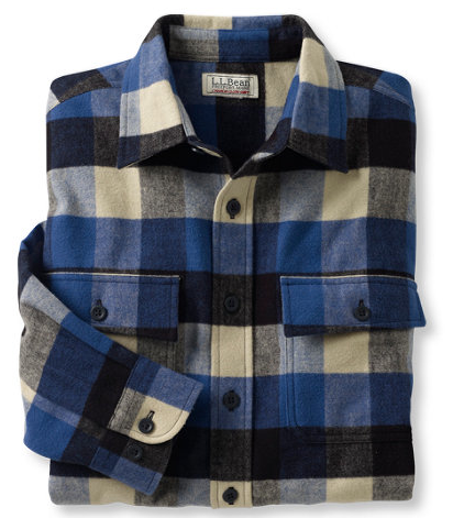 L.L. Bean  Chamois Cloth Plaid Shirt