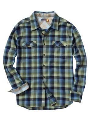 Quicksilver  Hazard Cove Long Sleeve Flannel Shirt