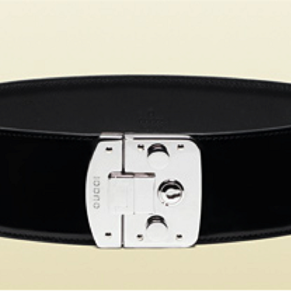 Gucci Leather Waist Lock Closure Belt