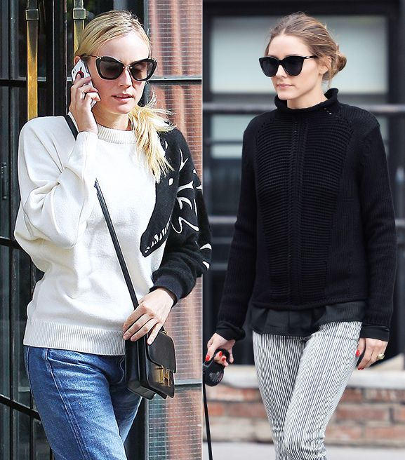 Celebrity Style: 11 Ways To Wear A Fall Sweater Now ...