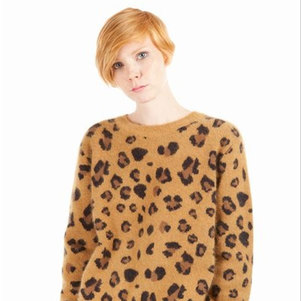 Chloe Sevigny for Opening Ceremony  Leopard Crewneck Sweater