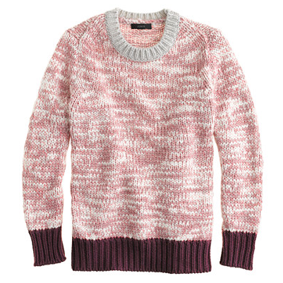 J.Crew  Marled Colorblock Sweater
