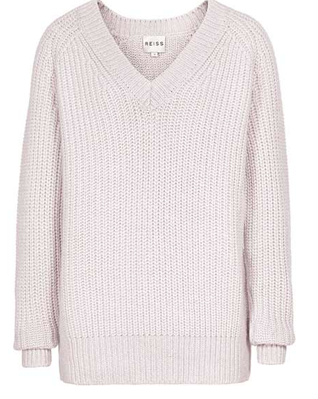 Reiss  Willaston Shimmer V Neck Sparkly Jumper